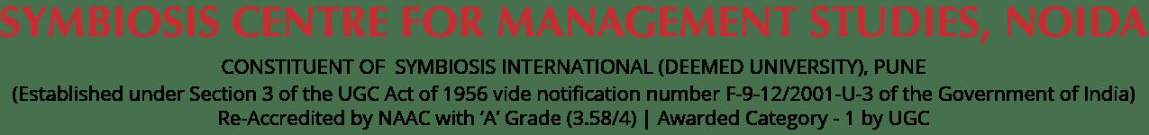 Symbiosis Centre for Management Studies NOIDA text Logo