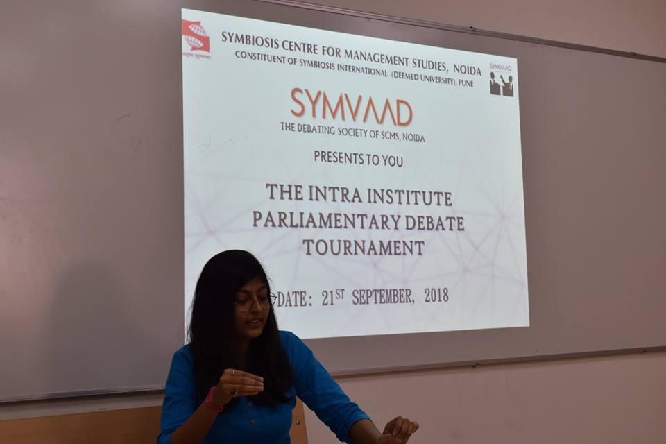 Intra Debate 2018 SCMS NOIDA