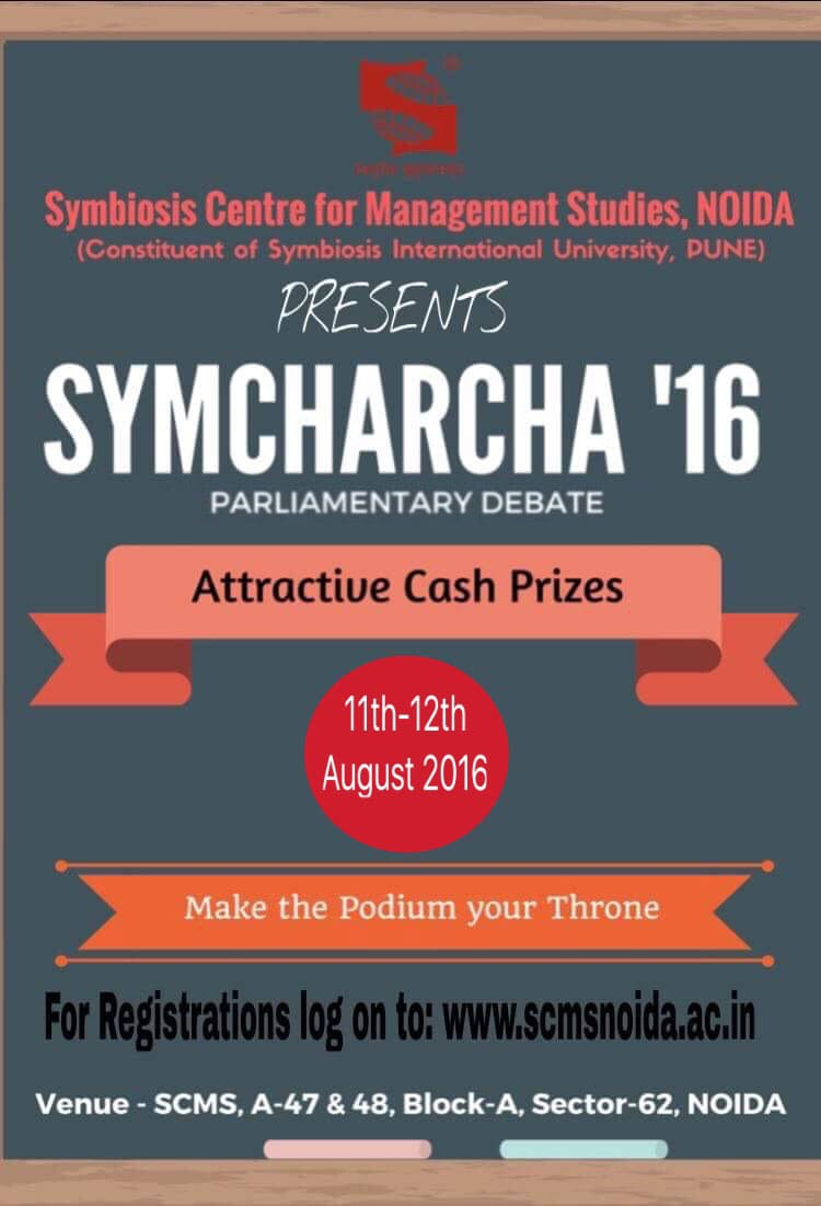 Symcharcha 2016 SCMS NOIDA