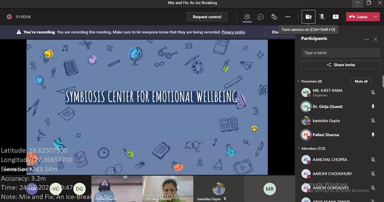 center for emotional wellbeing SCMS NOIDA
