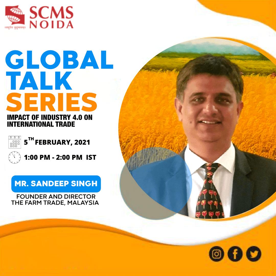 Sandip Singh - Global talk series SCMS NOIDA