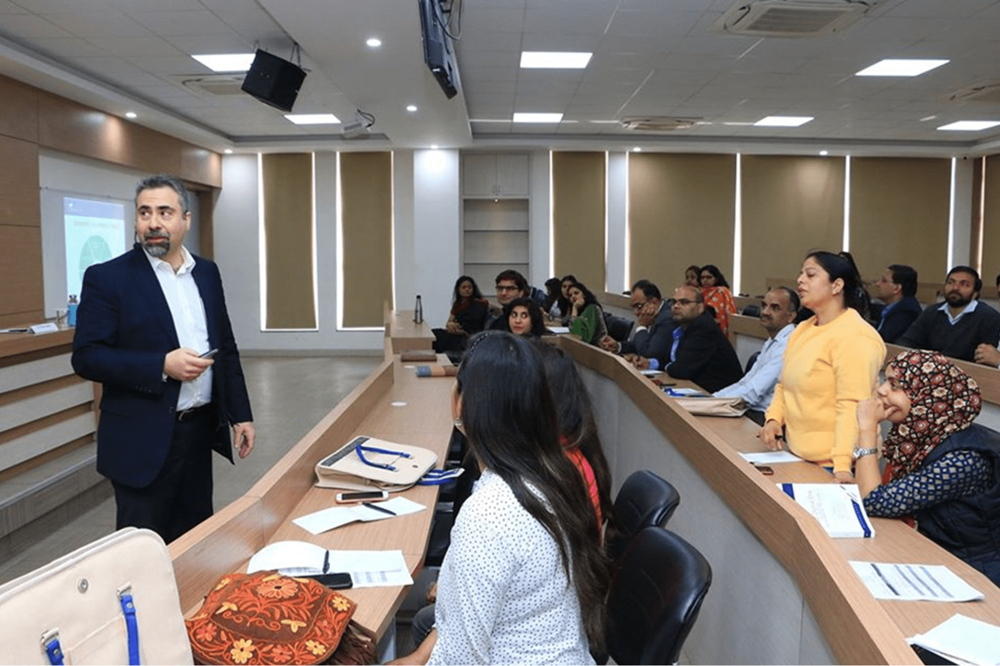 SCMS NOIDA Faculty in class