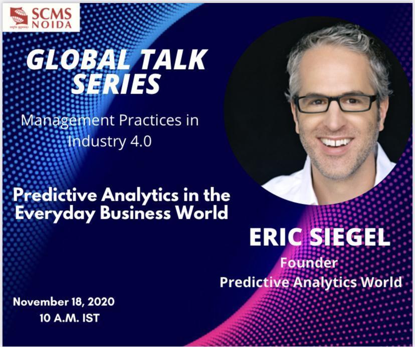Eric Siegel at SCMS NOIDA