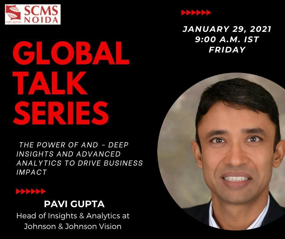 Pavi Gupta - Global talk series SCMS NOIDA